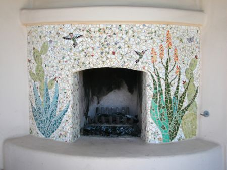 La Jolla Hummingbird Fireplace © Jenifer Strachan